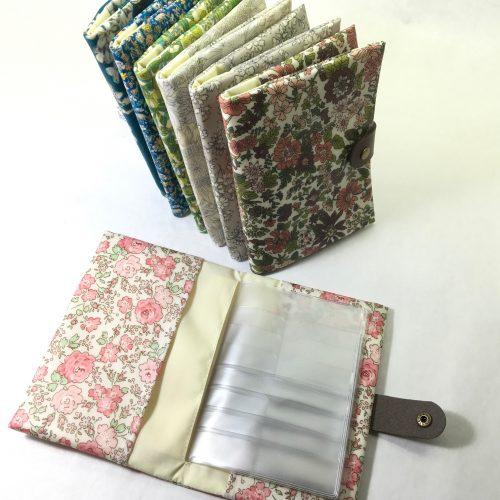 リバティ ハンドメイド マルチケース 作り方 無料型紙 保険証ケース お薬ノート 母子手帳