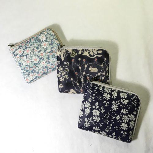 リバティ ハンドメイド 作り方 財布 ハーフウォレット L字財布 型紙 薄い財布 使いやすい
