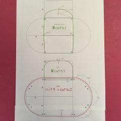 無料型紙アコーディオンポーチ 作り方 ハンドメイド