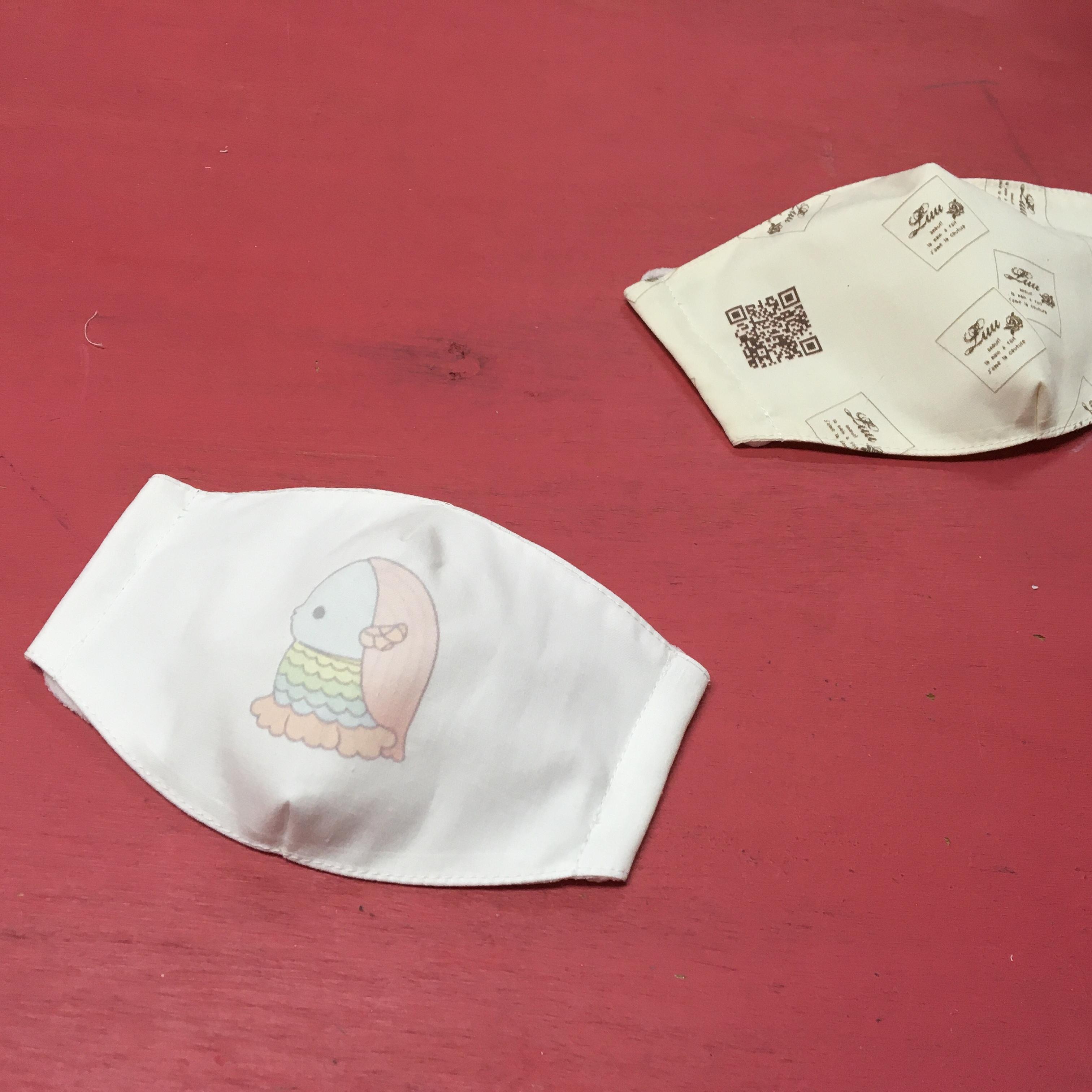 アマビエマスクを作ってみた♪ 布に印刷エプソンPX-S5010【マスク無料型紙】